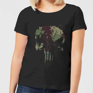 Marvel Camo Skull Women's T-Shirt - Black