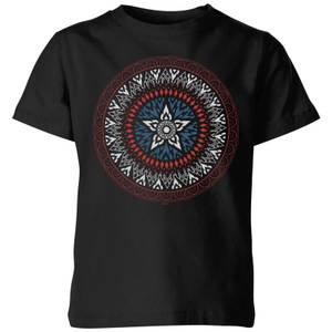 Marvel Captain America Oriental Shield Kids' T-Shirt - Black