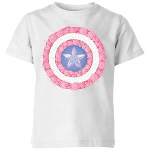 Marvel Captain America Flower Shield Kids' T-Shirt - White