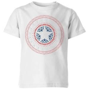Marvel Captain America Oriental Shield Kids' T-Shirt - White