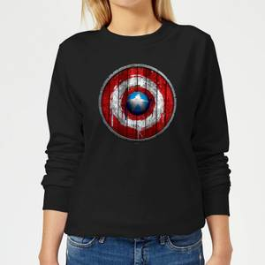 Felpa Marvel Captain America Wooden Shield - Nero - Donna