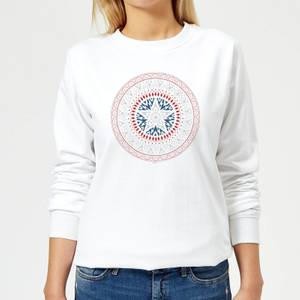 Marvel Captain America Oriental Shield Women's Sweatshirt - White