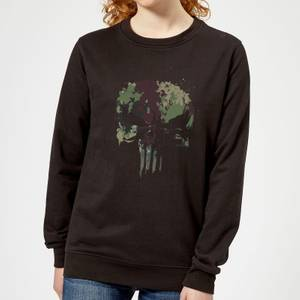 Marvel Camo Skull Women's Sweatshirt - Black