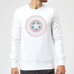 Marvel Captain America Oriental Shield Sweatshirt - White