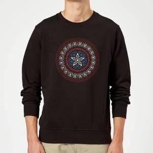 Marvel Captain America Oriental Shield Sweatshirt - Black