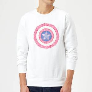 Marvel Captain America Flower Shield Sweatshirt - White