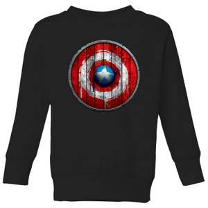 Felpa Marvel Captain America Wooden Shield - Nero - Bambini