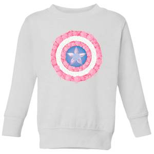 Marvel Captain America Flower Shield Kids' Sweatshirt - White
