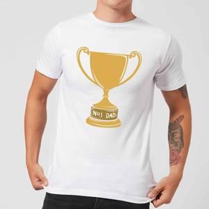 No.1 Dad Trophy Men's T-Shirt - White