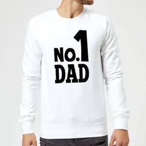 No. 1 Dad Sweatshirt - White