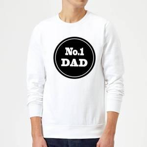 No.1 Dad Sweatshirt - White