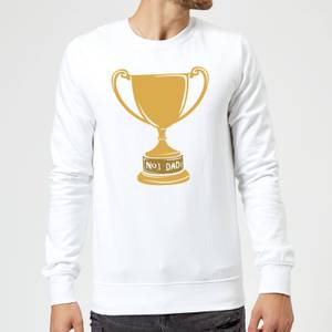 No.1 Dad Trophy Sweatshirt - White