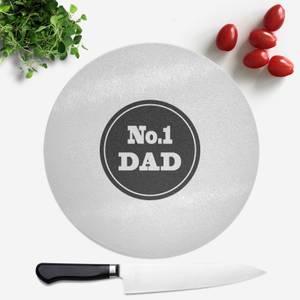 No.1 Dad Round Chopping Board