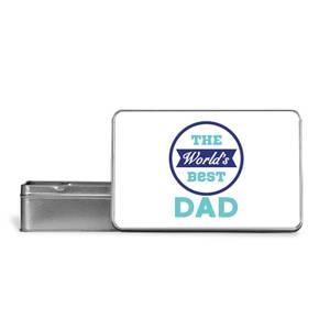 The World's Best Dad Metal Storage Tin