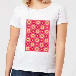 FLORAL PATTERN Women's T-Shirt - White