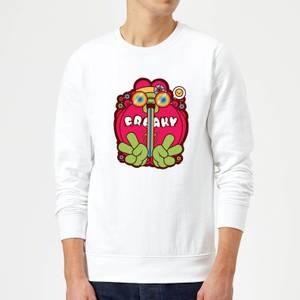 Hippie Psychedelic Cartoon Sweatshirt - White