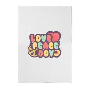 Love Peace Joy Cotton Tea Towel