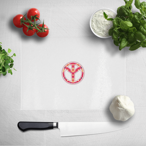 Floral Pattern Peace Symbol Chopping Board