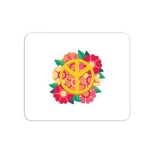 Peace Symbol Floral Mouse Mat