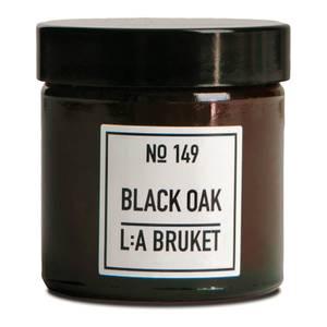 L:A BRUKET Small Black Oak Scented Candle 50g