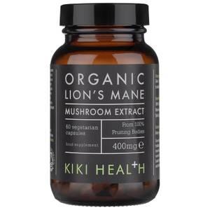 KIKI Health Organic Lion's Mane Extract Mushroom (60 Vegicaps)