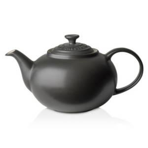 Le Creuset Stoneware Classic Teapot - Satin Black