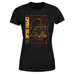 Star Wars Darth Vader Grid Women's T-Shirt - Black