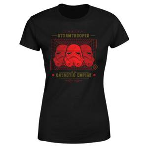 T-Shirt Star Wars Stormtrooper Legion Grid - Nero - Donna