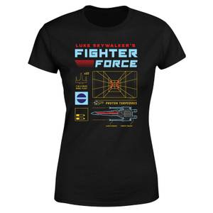 T-Shirt Star Wars Fighter Force - Nero - Donna