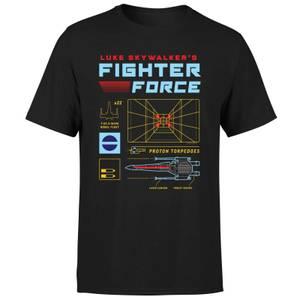 T-Shirt Star Wars Fighter Force - Nero - Uomo