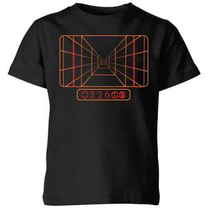 Star Wars Targeting Computer kinder t-shirt - Zwart