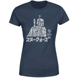 Star Wars Kana Boba Fett Damen T-Shirt - Navy Blau