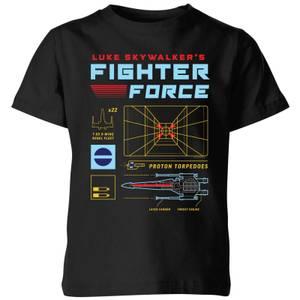 Star Wars Fighter Force kinder t-shirt - Zwart