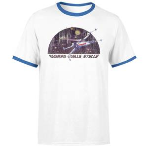 T-Shirt Star Wars X-Wing Italian / Blue Ringer- Bianco - Uomo
