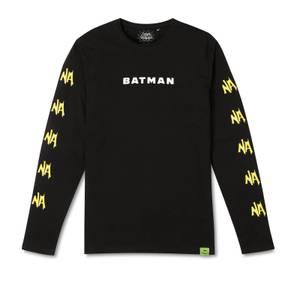 Batman Surf NA NA NA Surfs Up! Long Sleeved T-Shirt - Black