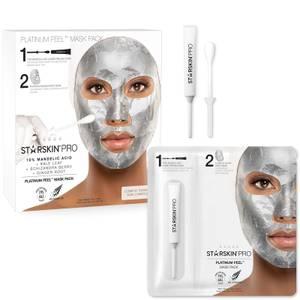 STARSKIN Pro Platinum Peel Mask Pack 10% Mandelic Acid + Kale Leaf + Schizandra Berry + Ginger Root 1.50 oz