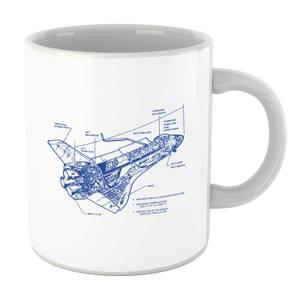 Shuttle Side View Schematic Mug
