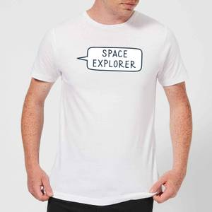 Space Explorer Men's T-Shirt - White