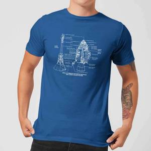 Command And Service Module Schematic Men's T-Shirt - Royal Blue