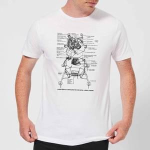 Lunar Schematic Men's T-Shirt - White