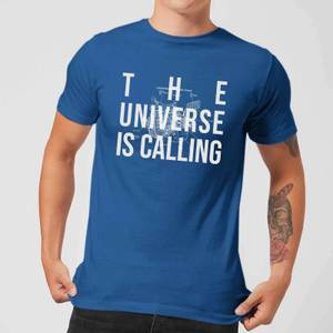 The Universe Is Calling Schematic Men's T-Shirt - Royal Blue