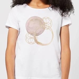 Watercolour Swirls Women's T-Shirt - White