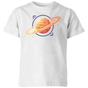 Saturn Kids' T-Shirt - White
