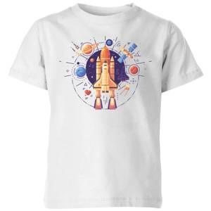 Blast Off Kids' T-Shirt - White