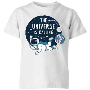 The Universe Is Calling Kids' T-Shirt - White