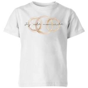 Stay Wild Moon Child Kids' T-Shirt - White
