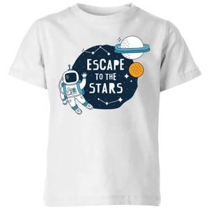 Escape To The Stars Kids' T-Shirt - White