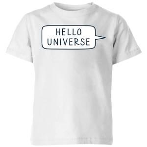 Hello Universe Kids' T-Shirt - White