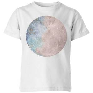 Colourful Moon Kids' T-Shirt - White
