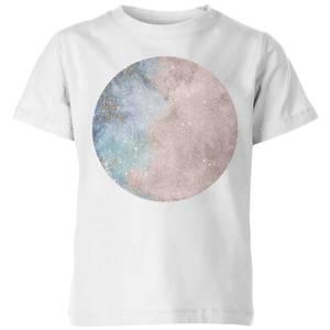 Colourful Moon Kids' T-Shirt - White